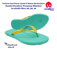 Sandal Swallow Premium SlimFeet Wanita - Hijau