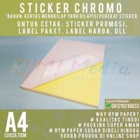 Kertas Sticker Chromo A4 (1 Rim/500 lembar)