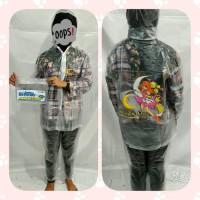 Jas Hujan Setelan Anak Remaja Transparan-FINO 605