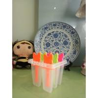 Cetakan Es LiLin Viola/Cetakan Es Loli+Stik 6 Lubang Murah Food Grade