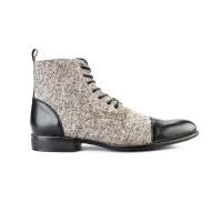 FTALE - Fabrizio Brown Navy Grey / Sepatu Boots Casual Kulit Asli