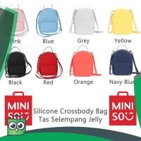 Miniso Tas Jelly Silicone Water Cube Sillicone Crossbody Bag