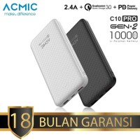 ACMIC C10PRO 10000mAh PowerBank Quick Charge 3.0 + PD (Black)