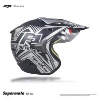 Jpx Supermoto Wild Rider Black Doff Silver size XL