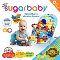 Bouncer Bayi Sugar Baby Deluxe Musical Vibration 1 Recline Sugar Toys