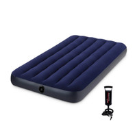 INTEX Kasur Angin Twin Dura-Beam Airbed Blue 64757 with Free Hand Pump