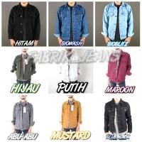 jaket jeans cowok / jaket jeans pria / jaket trucker
