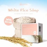 Azzahrashop Hanasui White Rice Soap with scrub 60gr Sabun Beras