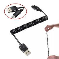 Kabel data tipe A male USB to Mini USB male 5 pin kabel spiral