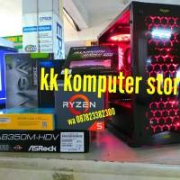 RAKITAN AMD RYZEN 5 1500X FEAT GTX 1060 3GB& LED SAMSUNG PC CPU GAMING