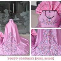 Mukena/Mukenah Grosir Dewasa Terbaru Motif Satin Yoryu Syahrini Pink