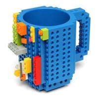 Gelas Mug Lego Brick Puzzle - Blue
