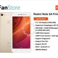 XIaomi Redmi Note 5A prime (Gold) 32GB,3GB Ram Garansi Setahun
