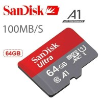 Memory Card MicroSD SanDisk Ultra 64GB 100mb/s Micro SD Class 10 UHS-I