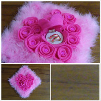 tempat kotak box perhiasan cincin ring bearer mawar rose love hati