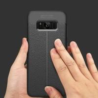 C102 Samsung S8 Auto Focus Case Black / Clear Leather TPU Rubber