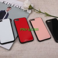 C104 Iphone 7/8 Tempered Glass Back Premium Case / case kaca silicon