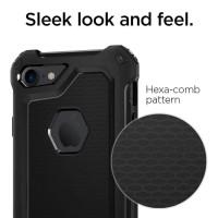 Case Spigen Rugged iPhone 6 / 6s / 6s 6 / 7 /7 carbon softcase - Hitam