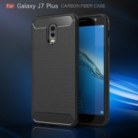Case Samsung J7 Plus IPAKY Softcase Black Armor