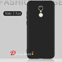 Case Ultraslim Matte softcase Black Xiaomi Redmi 5 Plus 2018 - Hitam