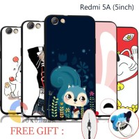 Fashion 3D Case Redmi 5a 5inch Free Tali Hp Ring Hp Casing