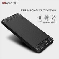 Ipaky Oppo A83 Case Softshell Fiber casing Carbon Soft case
