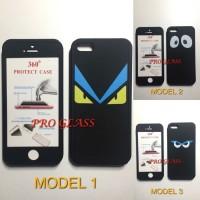 Iphone 5 / 5s / SE Case 360 Full Protection Fendi Style tempered
