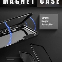 Magnetic Case For Iphone 6 / 6S Plus with Premium Back tempered Glass