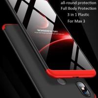 ORIGINAL GKK Xiaomi Mi Max 3 Case 360 Free Tempered Glass - Merah Muda