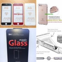 PAKET Iphone 8 PLUS ANTIGLARE magic Glass Tempered Glass Anticrak Case