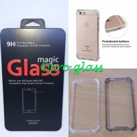 Paket Iphone 8 Plus Tempered Glass Acrylic Anticrack Case