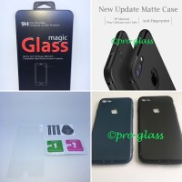 PAKET Iphone 7 PLUS / 8 Ultrathin Premium Matte Case Tempered Glass