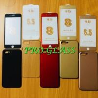 P102 Paket Iphone 7 / 7 Plus 4D Matte Tempered Glass Baby Skin Case