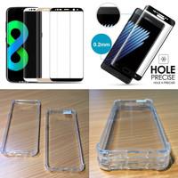 Paket Samsung S8 Plus Full Cover Tempered Glass Anticrack Case