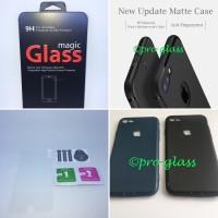 PAKET Iphone 6 Plus/6s Ultrathin Premium Matte Case Tempered Glass