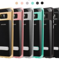 Samsung Galaxy S8 Plus Soft Transparent TPU Case Cover With Kickstand