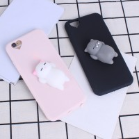 Silicon cat Case cover Soft TPU Squishy iPhone 5 5s se 6 6s 7 8 plus