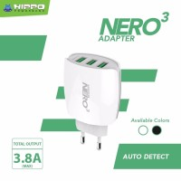 Hippo Adaptor Charger Nero 3 USB Port Simple Pack - White