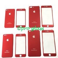 Iphone 6 PLUS / 6s PLUS RED Titanium Alloy Premium Tempered Glass