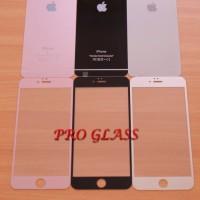IPHONE 6 Plus / 6s Plus Metalic Premium Design Tempered Glass 2in1