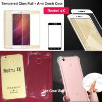 Tempered Glass Full Anti Crack Case Xiaomi Redmi 4x Soft Cover Antic