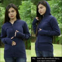 Sweater Rajut Ariel Gril Roundhand Navy