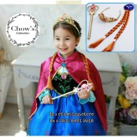 Set Mahkota Anak Cewe Frozen 3in1 / Princess Anna Crown Set COKLAT