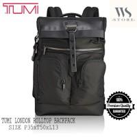 Tumi london roll bagpack Black 1:1 quality (PROMO AKHIR TAHUN) - Hitam