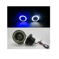 LED FOGLAMP / FOGLIGHT ANGEL EYES 76 MM PROJECTOR UNIVERSAL - Putih