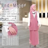 Baju Muslim Wanita Setelan Baju Muslim Kantor Original