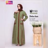 Baju Muslim Wanita Gamis Syari Busui List Cantik Ori Nibras