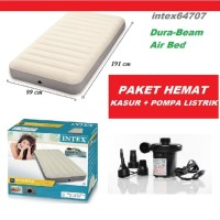 Kasur Angin HIGH QUALITY - INTEX DURA BEAM TWIN + POMPA LISTRIK