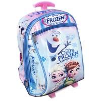 Tas Troley Sekolah TK Frozen Olaf Buncit 3D - Pink