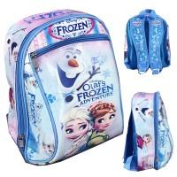 Tas Ransel Sekolah TK Frozen Olaf Buncit 3D - Pink